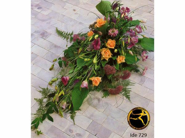 Blomsterbuket 6 - bårebuket. Pris fra 200-1500 afhængigt af bukettens størrelse